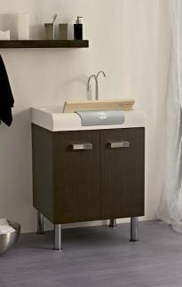 Итальянские постирочные раковины Мебель и оборудование для постирочной комнаты. Глубокая раковина для стирки мебель для постирочной Skip Colavene Венге