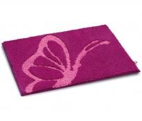 Коврики для ванной комнаты. Papillon коврик для ванной фуксия Бабочка