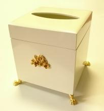 Салфетницы настольные настенные. Салфетница деревянная Avorio куб с золотым декором