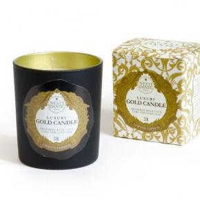 Ароматические свечи Парфюм для дома Диффузоры. NESTI DANTE Luxury Gold Candle свеча ароматическая с золотом