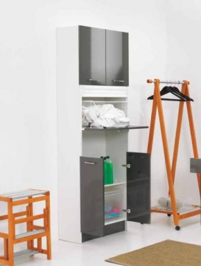 Итальянские постирочные раковины Мебель и оборудование для постирочной комнаты. Мебель для постирочной колонка с корзиной для белья Brava COLAVENE Высокая