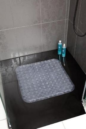 Противоскользящие коврики для ванн, душа и душевых поддонов. Delia противоскользящий коврик для душа, ванны и душевого поддона