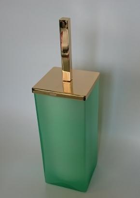 Ёршики для унитаза напольные и настенные. Arcobaleno Marmores Ёршик для унитаза напольный стеклянный зелёный золотой
