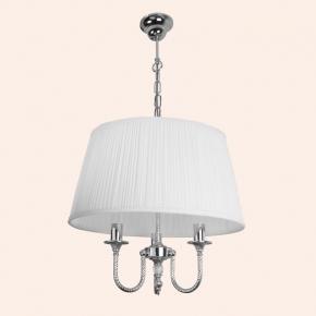 Светильники для ванной комнаты. Люстра с текстильным абажуром TW Murano TWMUL1578/CH3cr ∅ 500мм