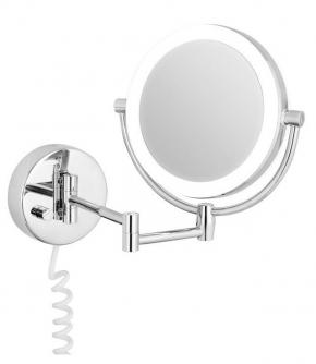 Зеркала косметические с подсветкой увеличением настенные настольные Зеркала с присосками. Maike Nicol двухстороннее настенное косметическое зеркало с подсветкой LED и увеличением 1х5 и 1х10