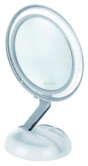 Зеркала косметические с подсветкой увеличением настенные настольные Зеркала с присосками. Editha Nicol косметическое зеркало с подсветкой LED настольное складное с увеличением 1х5