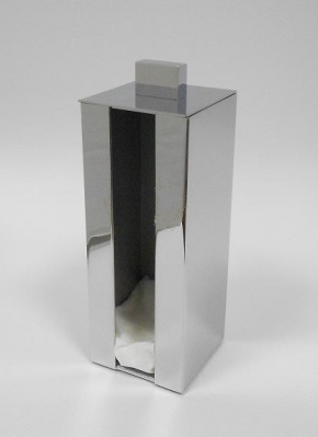 Контейнеры для ватных Дисков Шариков Палочек. Контейнер для ватных дисков настольный квадратный хром