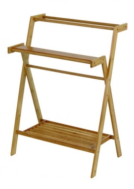 Мебель и Аксессуары для ванной из натурального дерева, Раттана и Бамбука. Servant Nicol стойка деревянная с полками и тремя полотенцедержателями