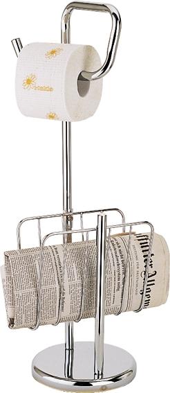 Газетницы напольные Кожаные Плетёные Металлические Деревянные. Стойка напольная с бумагодержателем газетница Elara Nicol