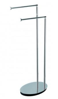 Стойки напольные с бумагодержателем, полотенцедержателем, ёршиком и высокие. Fano стойка с полотенцедержателями овальная