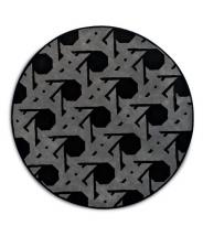 Ковры для дома. Ковер LIENZ чёрно-серый круглый шерстяной