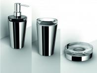 Аксессуары для ванной настольные. Настольные аксессуары для ванной стеклянные декор хром Lapiana IBB