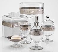 . Настольные аксессуары для ванной стеклянные Bellino Clear Platinum Labrazel