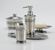 . Настольные аксессуары для ванной оловянные San Lorenzo Labrazel