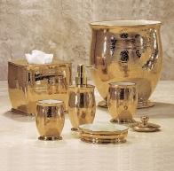 . Настольные аксессуары для ванной керамические позолоченные GOLD Anna Labrazel