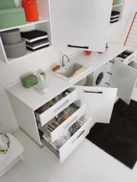 Итальянские постирочные раковины Мебель и оборудование для постирочной комнаты. Мебель для постирочной Bianco Laundry S Colavene Глубокая раковина для стирки встроенная