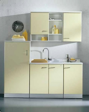 . Lavatto мебель постирочная раковина двойная гарнитур желтый