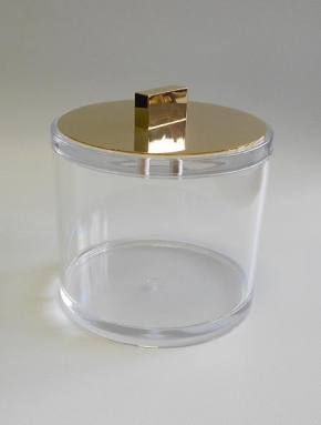 Контейнеры для ватных Дисков Шариков Палочек. Контейнер для ватных дисков и шариков с крышкой золотой Acryl