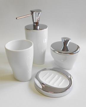 . Momentum Nicol белые аксессуары для ванной фарфоровые настольные
