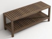 Банкетки для ванной Пуфы Интерьерные Табуреты для ванной и душа Откидные сиденья. Банкетка из Тика деревянная АМЕ