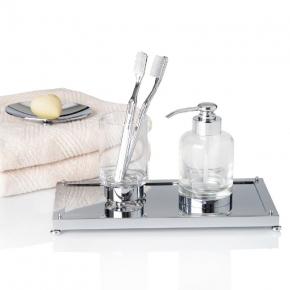 Аксессуары для ванной настольные. Crystal хрустальные аксессуары для ванной by Cristal et Bronze