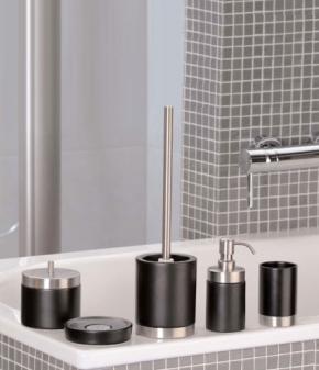 РАСПРОДАЖА. Oslo Nicol настольные аксессуары для ванной чёрные керамические