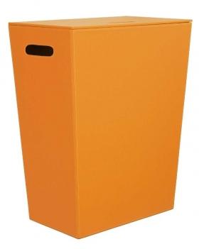 . Корзина для белья кожаная Оранжевая Koh-i-Noor