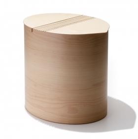Корзины для белья. Корзина для белья Buk Oval овальная деревянная
