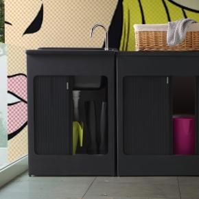 Итальянские постирочные раковины Мебель и оборудование для постирочной комнаты. Colavene Lavacril Black Outdoor универсальная чёрная постирочная раковина глубокая