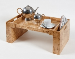 Аксессуары и Мебель для дома. Wood Collection деревянный столик для постели Берёза карельская