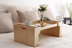 Аксессуары и Мебель для дома. Wood Collection деревянный столик для постели Сикамор