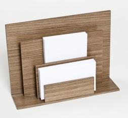 . Wood Collection деревянные аксессуары для рабочего стола держатель для бумаг вертикальный Орех