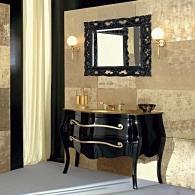 Мебель для ванной комнаты. Eurolegno Narciso Композиция №9 Комплект мебели 132 см, цвет: глянцевый чёрный