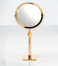 Зеркала косметические с подсветкой увеличением настенные настольные Зеркала с присосками. Косметическое зеркало с увеличением настольное телескопическое двухстороннее Золотое