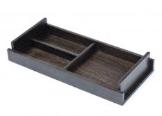 Аксессуары для ванной настольные. Wood Collection Универсальный деревянный лоток Дуб Smoked