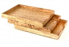 Мебель и Аксессуары для ванной из натурального дерева, Раттана и Бамбука. Wood Collection лоток деревянный для бумаг А4 Карельская берёза