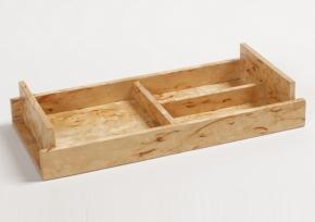 Аксессуары для кабинета Deluxe. Wood Collection Универсальный деревянный лоток Карельская берёза