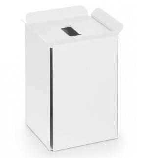 . Ведро для мусора Bianco квадратное с крышкой Lineabeta