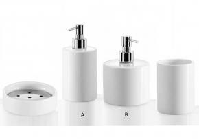 . Аксессуары для ванной настольные фарфоровые белые Porcellana Saon Lineabeta