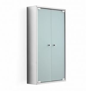 Зеркальные шкафчики Аптечки. Шкаф со стеклянной дверцей и полкой настенный PIKA Lineabeta 80 двухстворчатый