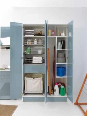 Итальянские постирочные раковины Мебель и оборудование для постирочной комнаты. Мебель для постирочной высокий шкаф колонка Celeste