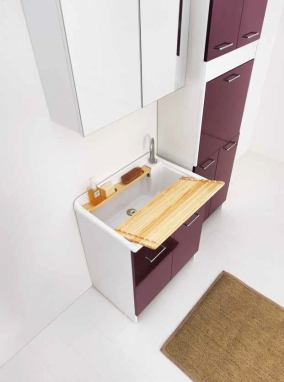 Итальянские постирочные раковины Мебель и оборудование для постирочной комнаты. Мебель для постирочной раковина постирочная большая Colavene LM Melanzana 75 см
