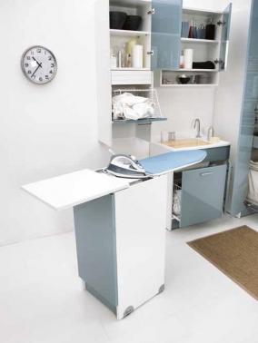 Итальянские постирочные раковины Мебель и оборудование для постирочной комнаты. Мебель для постирочной встроенная гладильная доска выкатная тумба Celeste Colavene