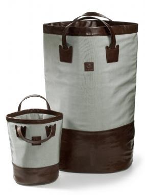 . Decor Walther Корзина для белья мягкая экокожа текстильный нейлон Loft Серая