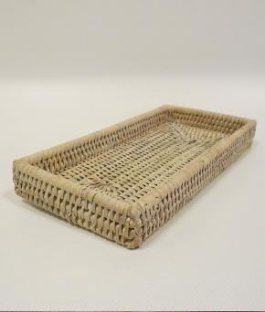 Мебель и Аксессуары для ванной из натурального дерева, Раттана и Бамбука. Плетёный лоток светлый Раттан настольный косметический Ротанг Rattan