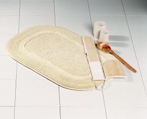 Коврики для ванной комнаты.  Хлопковый коврик для ванной комнаты LUXOR Oval Nicol двухсторонний