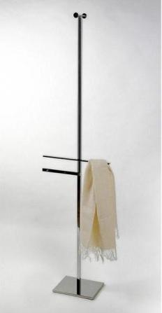 Стойки напольные с бумагодержателем, полотенцедержателем, ёршиком и высокие. Стойка для халатов и полотенец Linea 2020 квадратное основание