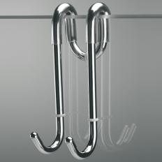 Скребки для стекла душевых кабин и зеркал. Крючок для полотенец BERT Nicol хром двойной