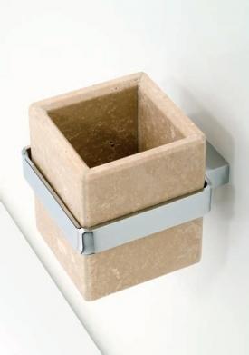 . Travertino MARMORES аксессуары для ванной настенные Стакан