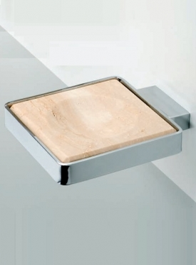 . Travertino MARMORES аксессуары для ванной настенные Мыльница